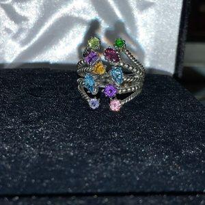 Samuel B. Sterling silver multi-gemstone ring